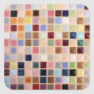 Vintage Mosaic Tiles Square Sticker