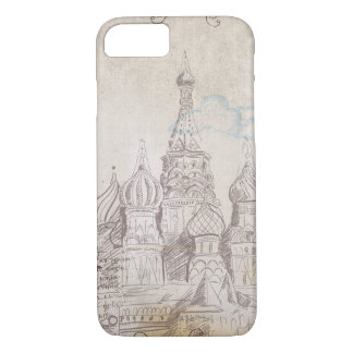 Vintage Moscow Postage Design iPhone 7 Case