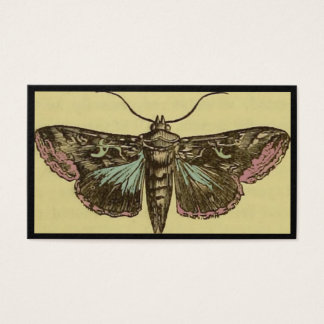 Vintage Moth Customizable Business Card