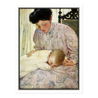 Vintage Mother and Baby by Jessie Willcox Smith Postcard
