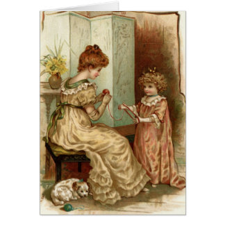 Vintage Mother And Child Card