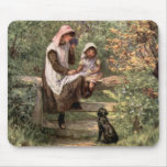 Vintage Mother and Child in a country setting Mousepad