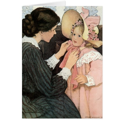 Vintage Mother and Child; Jessie Willcox Smith Greeting Card