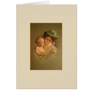 Vintage Mother and Child Note Card