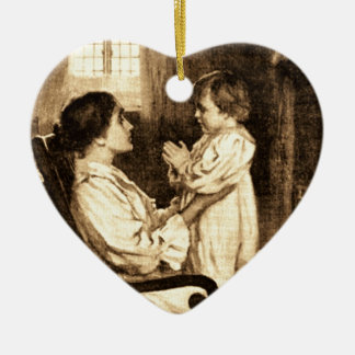 Vintage Mother and Child Ornament