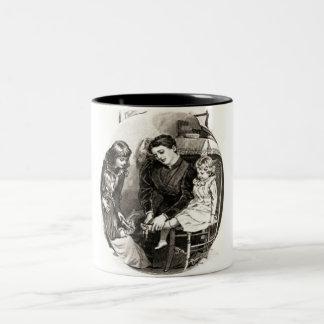 Vintage Mother and Children Coffee Mug