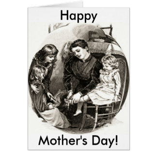 Vintage Mother and Children Greeting Card