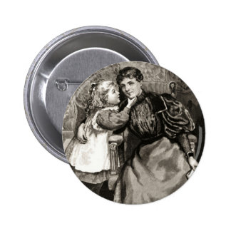 Vintage Mother and Daughter Button