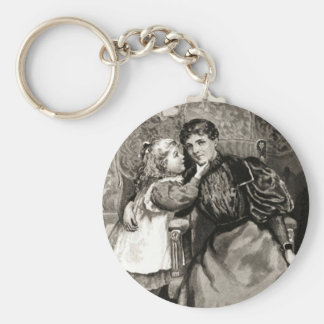 Vintage Mother and Daughter Keychains