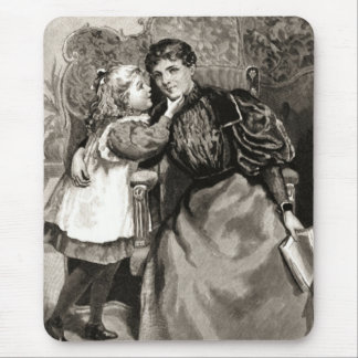 Vintage Mother and Daughter Mouse Pad