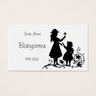 Vintage Mother Child Babysitter Business Card