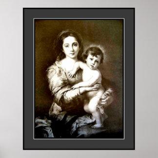 Vintage Mother & Child - Large Poster