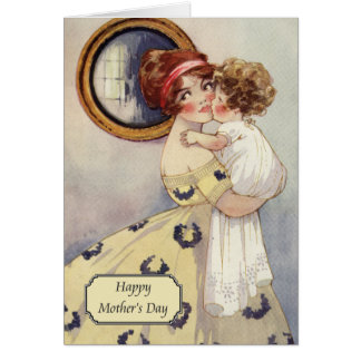 Vintage Mother + Daughter by Agnes Richardson Card