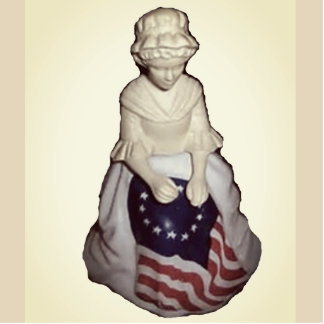 Vintage Mother Flag Photo Sculpture Magnet