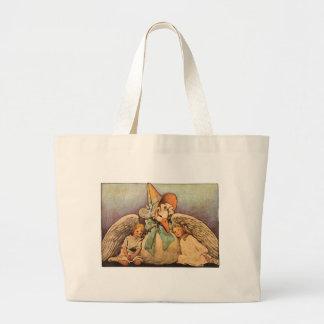 Vintage Mother Goose Children Jessie Willcox Smith Jumbo Tote Bag