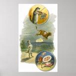 Vintage Mother Goose Nursery Rhyme Poem Posters