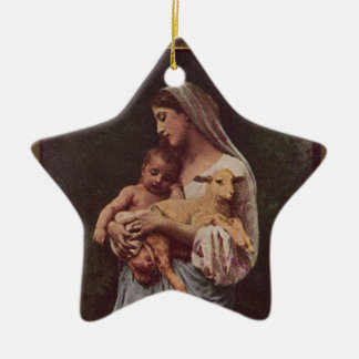 Vintage Mother Mary and Baby Jesus Christmas Ornament