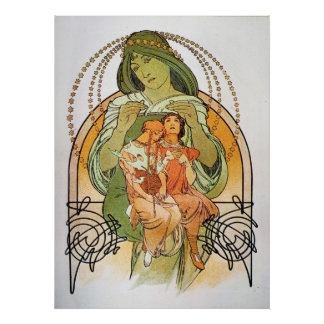 Vintage Mother Mary Poster