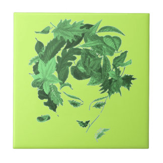 Vintage Mother Nature Small Square Tile