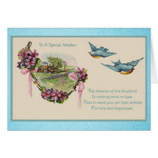 Vintage Mother s Day Bluebirds Cards