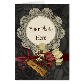 Vintage Mother´s Day Template Greeting Card