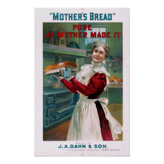 Vintage Mother's Bread Advertisement Poster