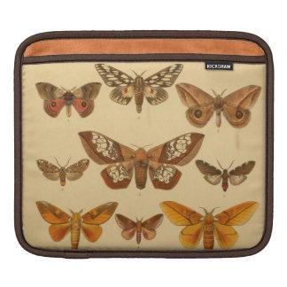 vintage moths iPad sleeve