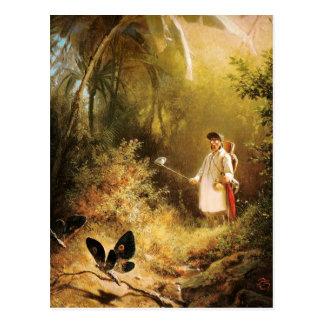 Vintage Motive - Butterfly Catcher Postcard