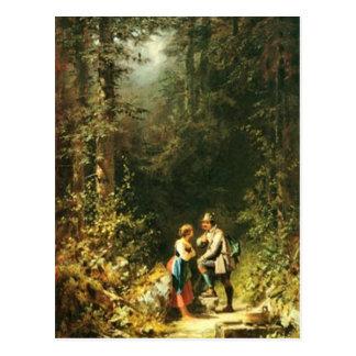 Vintage Motive -Dairymaid & Hunter Postcard