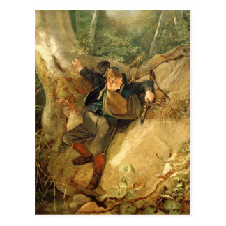 Vintage-Motive, Hunting Accident, Spitzweg Postcard