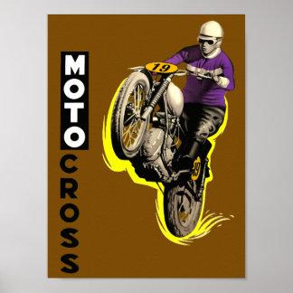Vintage Motocross Poster