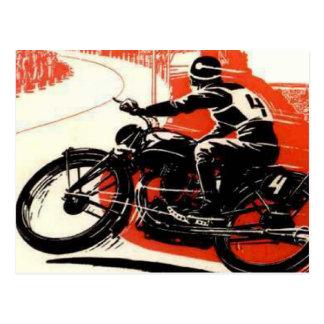 Vintage Motor Bike Race Postcard
