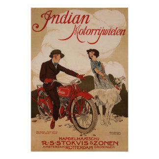 Vintage Motorcycle Company Advertising Poster