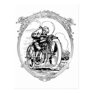 Vintage Motorcycle- Fathers Day-Birthday Postcard