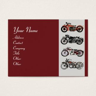 VINTAGE MOTORCYCLES red black grey Business Card