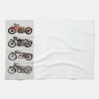 VINTAGE MOTORCYCLES TEA TOWEL