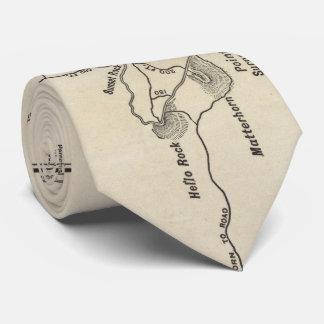 Vintage Mount Monadnock Trail Map (1910) Tie