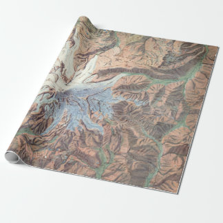 Vintage Mount Rainier Topographical Map Washington Wrapping Paper