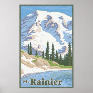 Vintage Mount Rainier Travel Poster