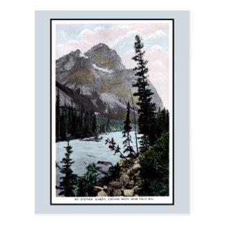 Vintage Mount Stephen Field BC Canada photo Postcard