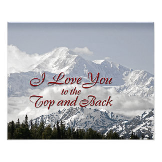 Vintage Mountains: I Love You to the Top and Back Photo Art