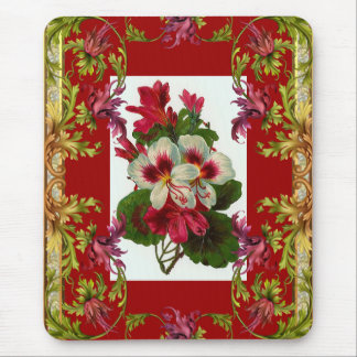 Vintage Mousepad Red Floral
