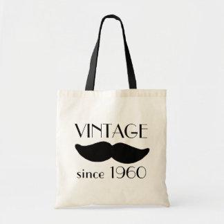 VINTAGE Moustache Tote Bags