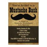 Vintage Moustache Bash 13 Cm X 18 Cm Invitation Card