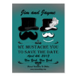 Vintage Moustache Save The Date