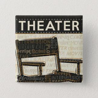 Vintage Movie Chair 15 Cm Square Badge