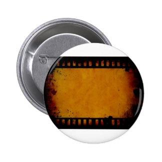 vintage movie film stripe 6 cm round badge