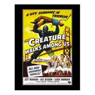 Vintage movie horror - postcard