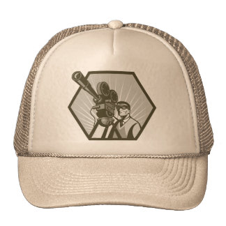 Vintage movie or television film camera director hats