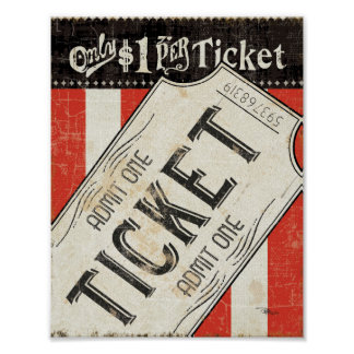 Vintage Movie Ticket Print